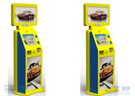 Advertising Machine Dual Touch Screen Free Standing Kiosk With Movie Ticket Printer