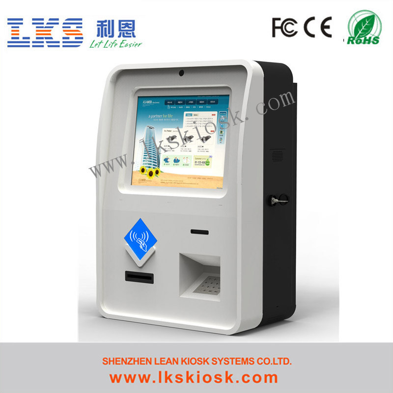 Bill Payment Machine For Touch Screen Kiosk Motorized Card Reader