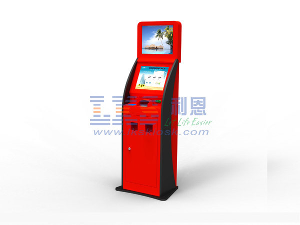 Touch Screen Free Standing Bill Payment Kiosk Banking Wifi Module
