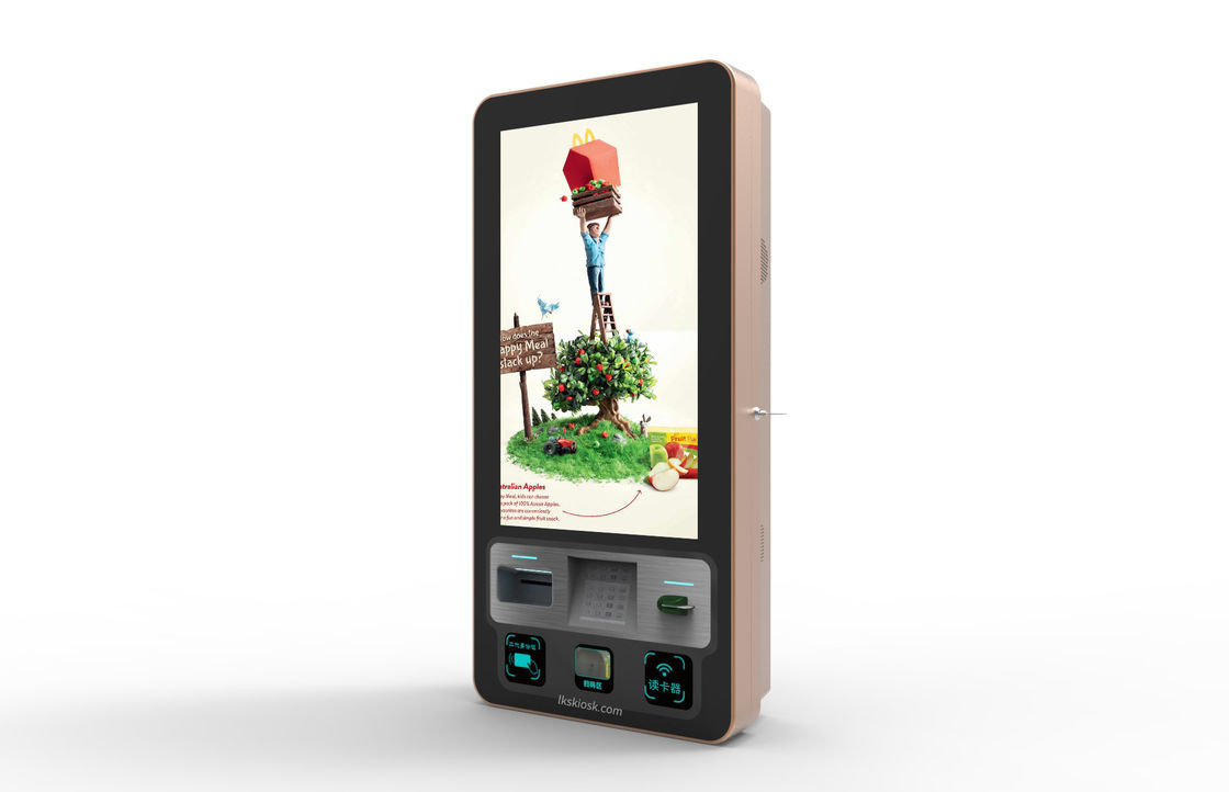 IR Waterproof Wall Mounted Kiosk 32'' Touch Screen Payment Machine CE/FCC Approval