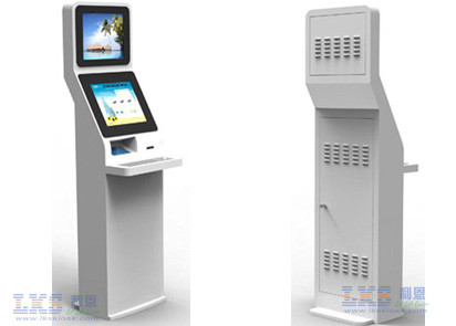 Floor Stand Touch Screen Monitor Kiosk , Computer Information Kiosk System