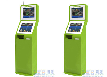 PC Window 7 Industrial Self Service Check Health Kiosk Station With LCD Monitor