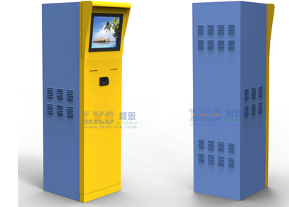 Parking Ticket Vending Machine Half Outdoor Kiosk With Member Card Credit Card Reader
