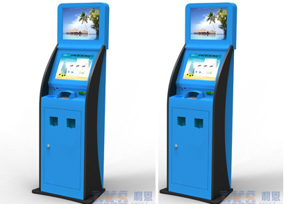 Cash Acceptor / Coin Acceptor Ticket Vending Machine / Kiosk Blue Color