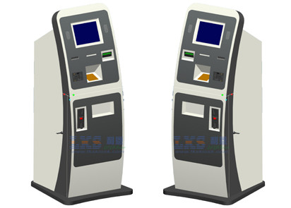 SAW / IR / Capacitive Touchscreen Public Free Standing Kiosk With Cash Dispenser
