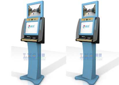 Vertical Movie Ticket Vending Machine , 19 Inch Screen Multimedia Kiosks