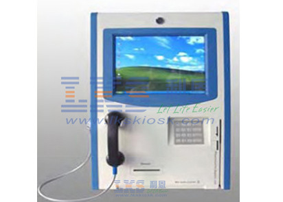 Bank RJ45 Wire Internet Self Service Kiosk , 12 Inch Capacitive Touch Screen