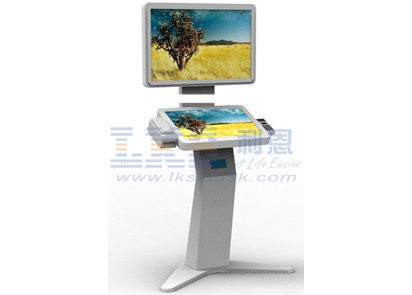 Dual Screen Multifunction Kiosk Free Floor Standing Model Custom Design
