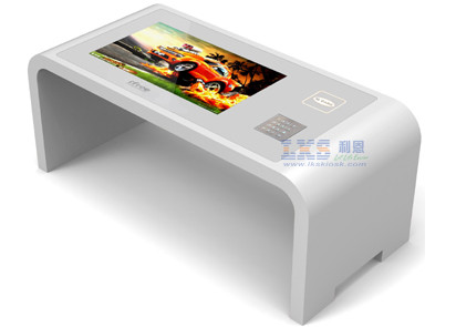 21.5 Inch Interactive Touchable Information Table Kiosk With EPP And Complimentary Card Reader