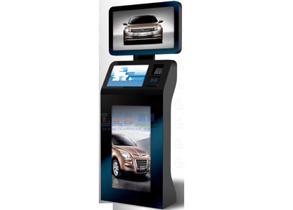 Self Service Top Up Kiosk Triple HD LED Screens For Travel Directions